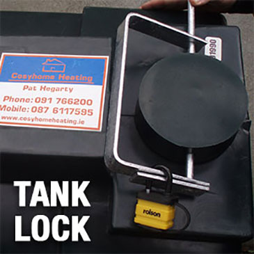Protect your oil tank with a Tank lock supplied by Cosy Home Heating