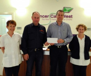Pat delighted to support Cancer Care West