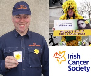 Pat Supporting Daffodil Day 2015 to raise money for the Irish Cancer Society