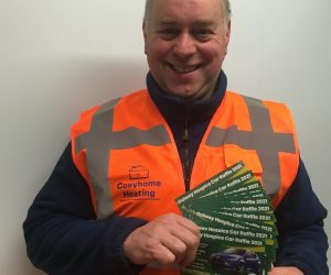 Happy with his tickets for the Galway Hospice Raffle 2021