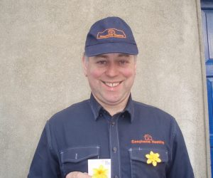 Pat supporting Daffodil Day 2020